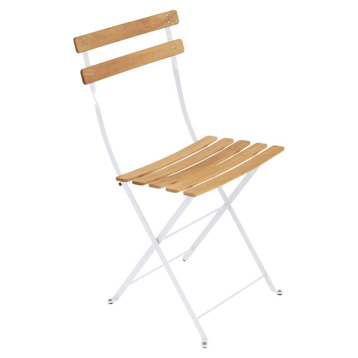 Chaise pliante Naturel Bistro de Fermob en blanc coton