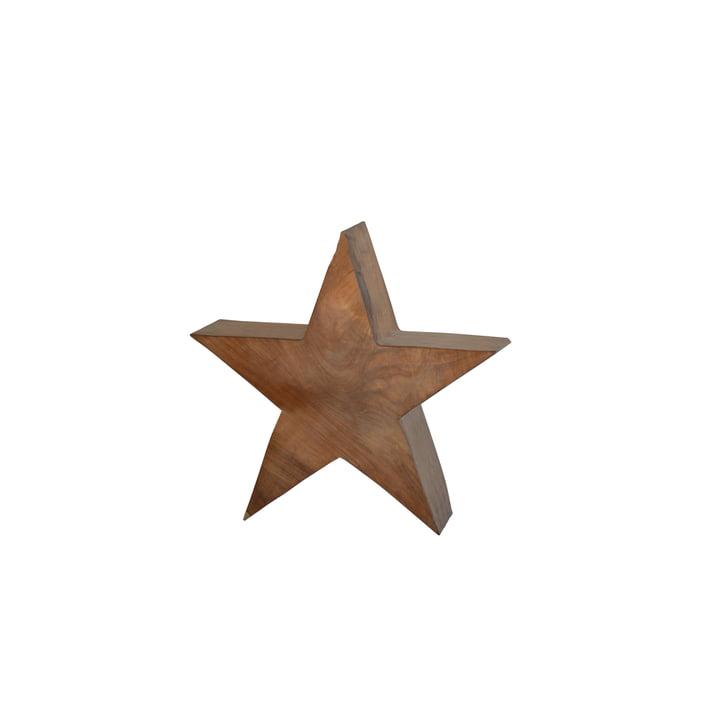 Jan Kurtz - Étoile en bois S, teck massif