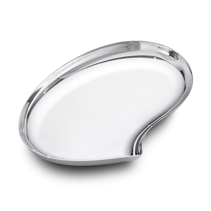 Georg Jensen - Plateau Bloom, grand format, acier inoxydable