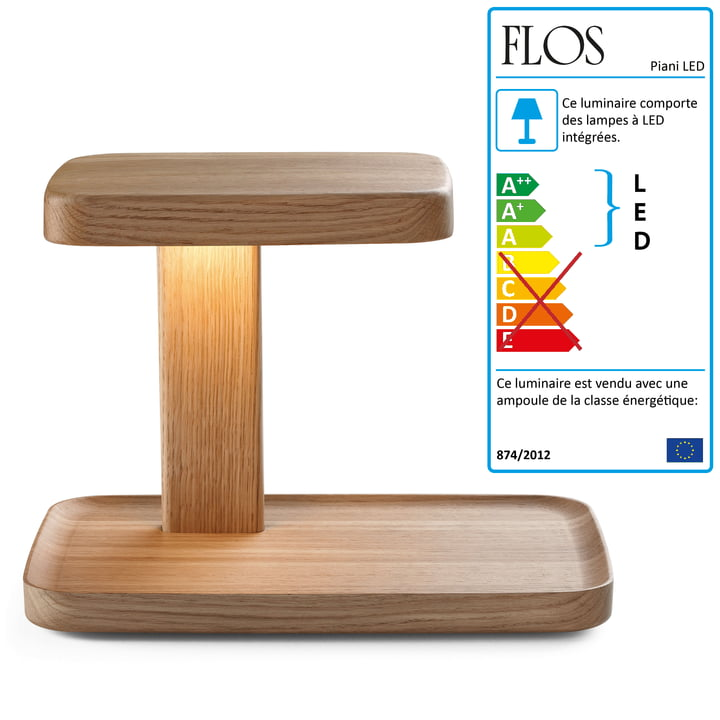 Flos - Piani Big Lampe de table, wood