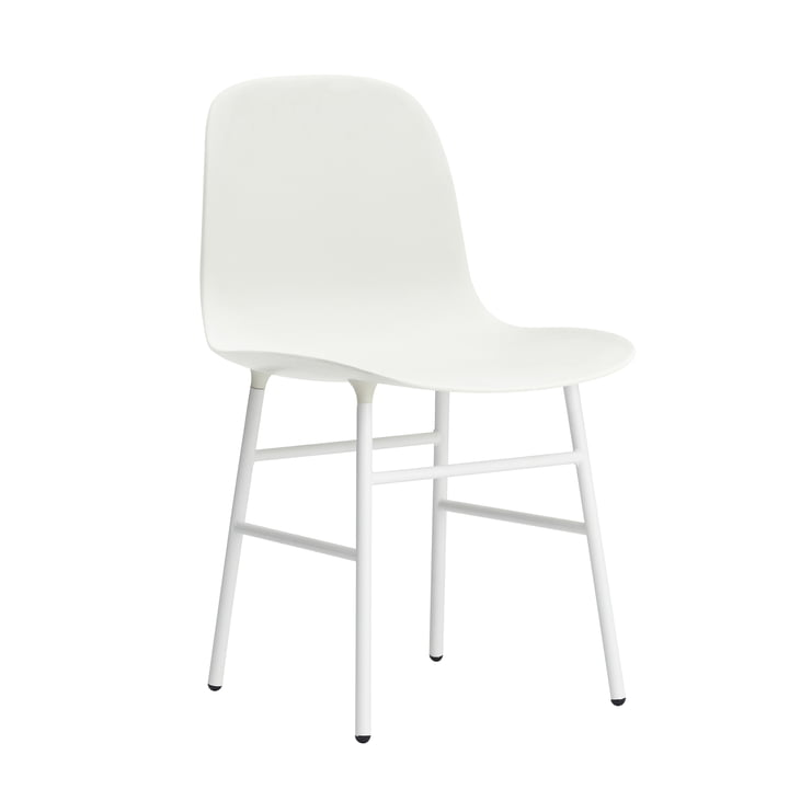 Normann Copenhagen - Form Chair, Steel Legs, blanc