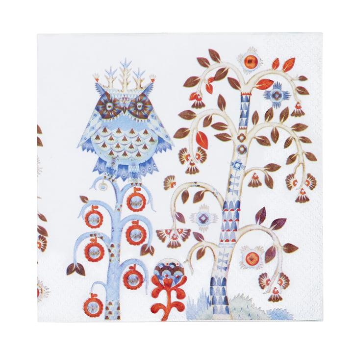 Taika serviette 33 x 33 cm d'Iittala en blanc