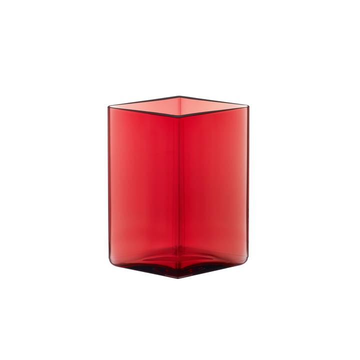 Ruutu Vase 115 x 140 mm de Iittala dans Cranberry