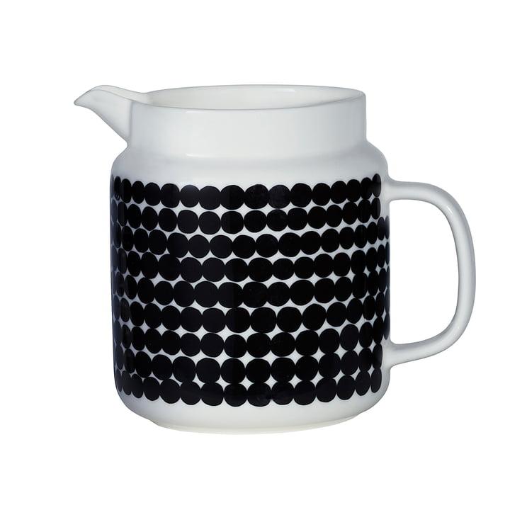 Marimekko - Cruche Oiva Siirtolapuutarha, blanc/noir