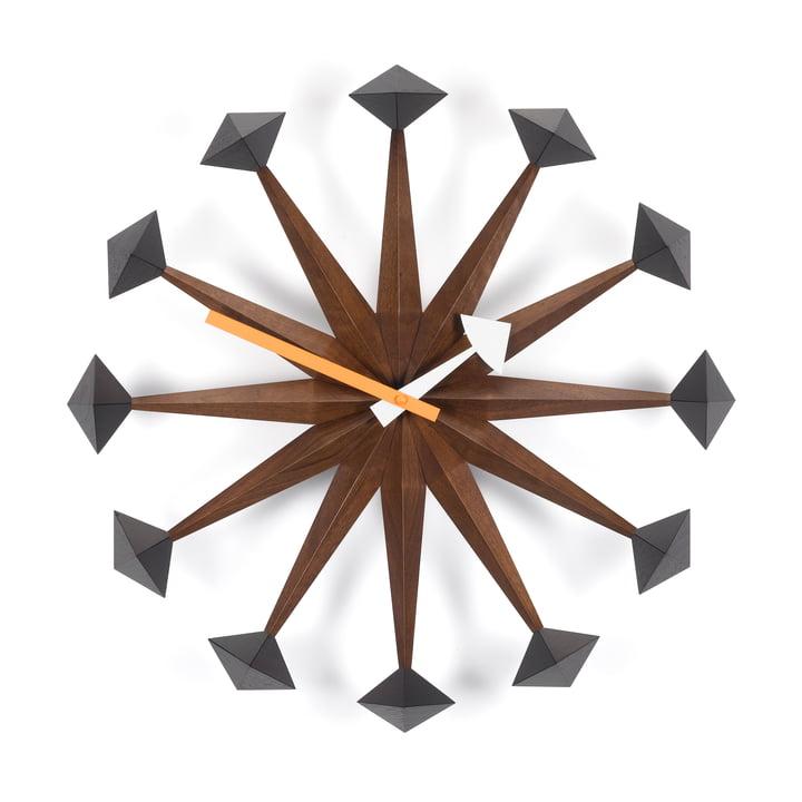 Vitra - Polygone Clock, noyer