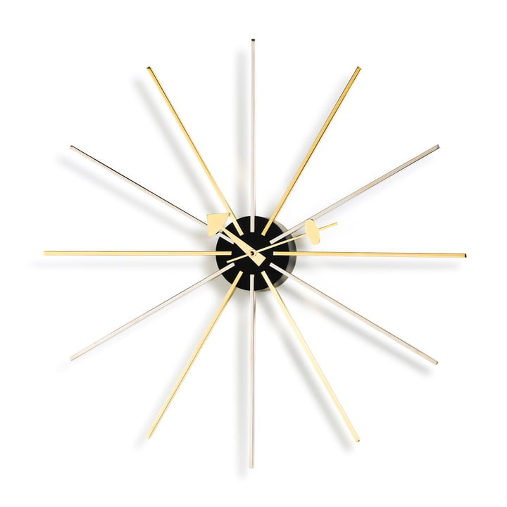 Vitra - Star Clock, chrome / laiton