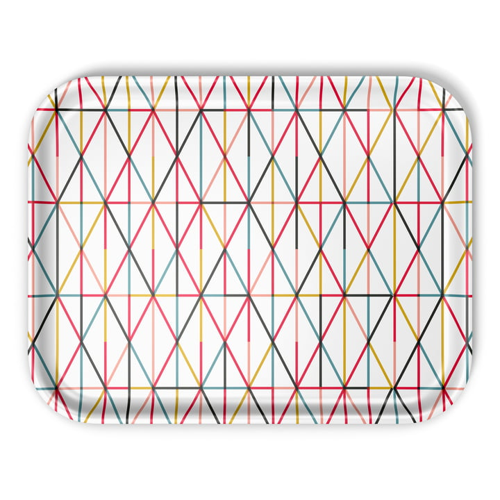 Vitra - Classic Tray large, Grid multicolour