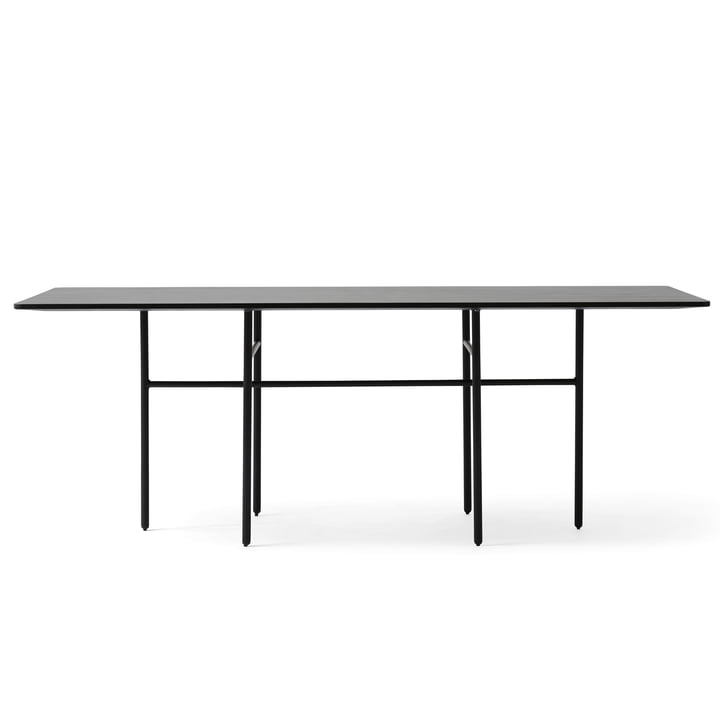 Menu - Snaregade Table, rectangulaire, placage noir
