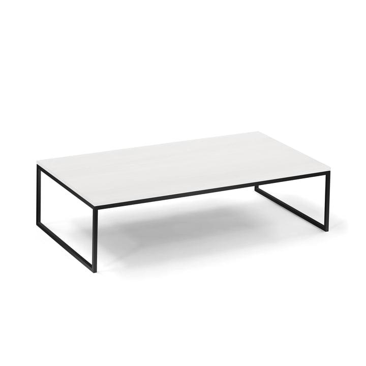 Hans Hansen - Less H 5/2 VA Table basse, piètement traîneau, noir / HPL blanc