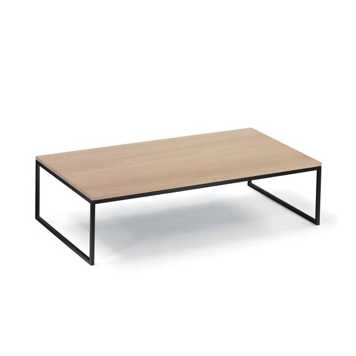 Hans Hansen - Less H 5/2 VA Table basse avec piètement traîneau, noir / chêne massif