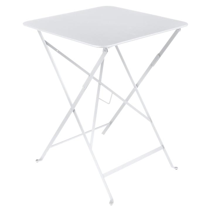 Fermob - Table pliante Bistro 57 x 57cm, blanc coton