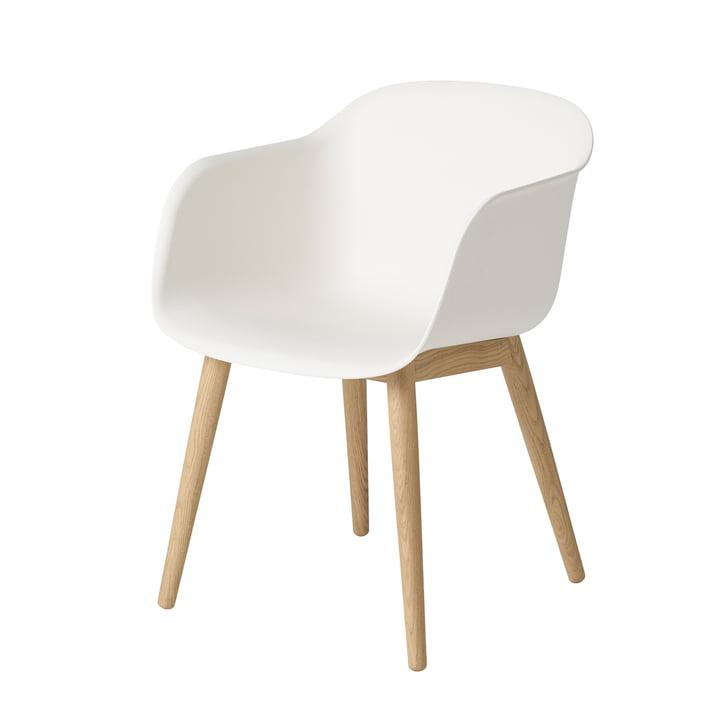 Fiber Chair Wood Base de Muuto en chêne / blanc
