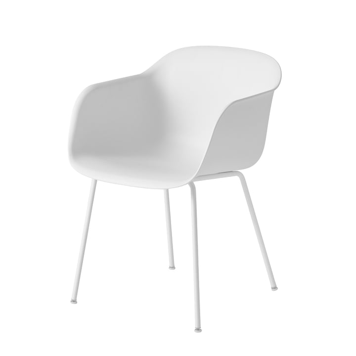 Muuto Fiber chaise Tube blanche