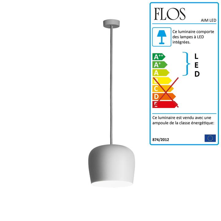 Flos - Flos AIM Small LED Fix, blanc