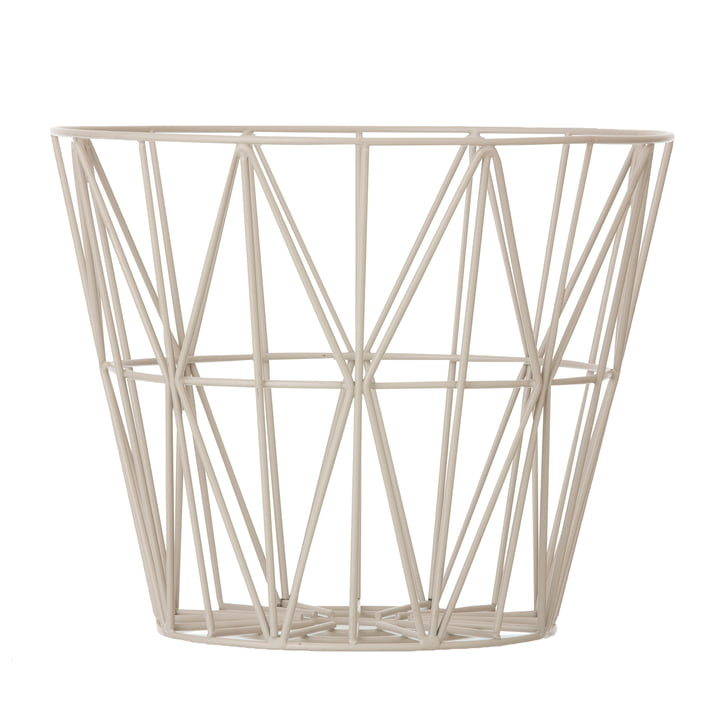 ferm Living - Wire Basket Medium, gris