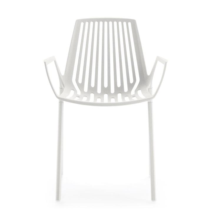 Fast - Chaise à accoudoirs Rion, blanc