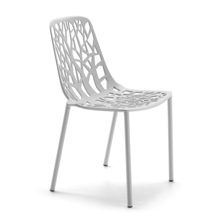 Fast - Chaise empilable Forest, blanc