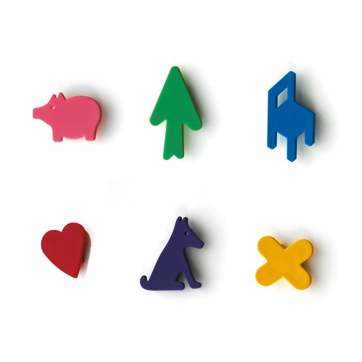 Magis - Set d'aimants pour tableau magnétique Memo (lot de 6)