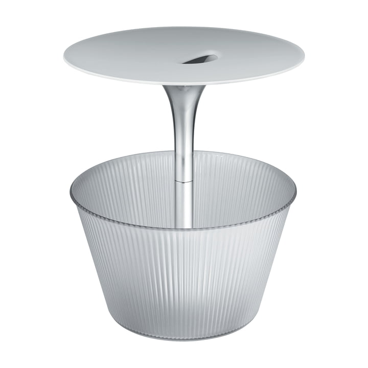 Alessi - Table d'appoint Pick-Up, chromé