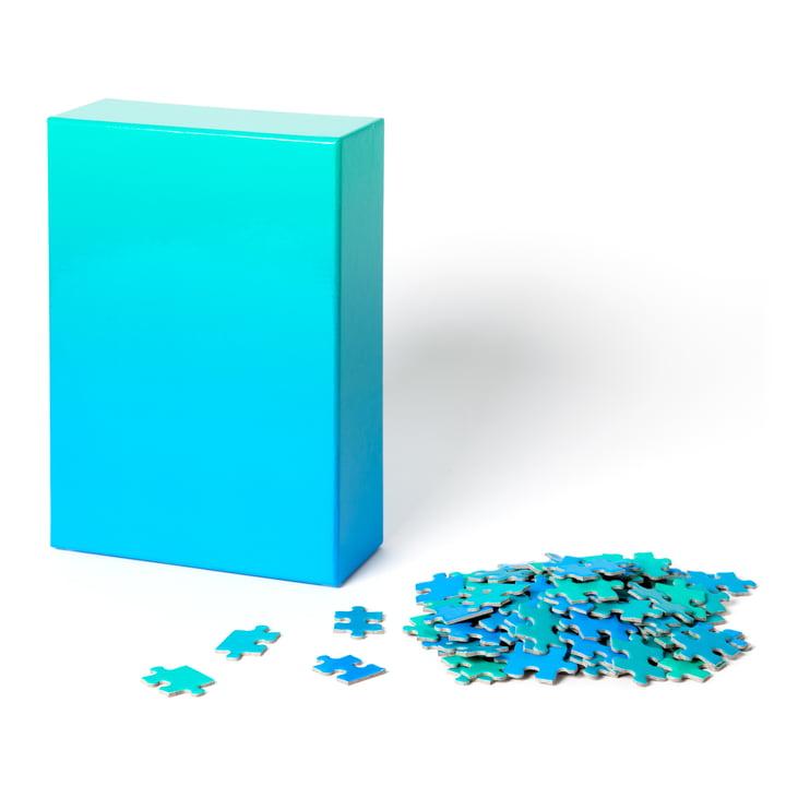 Areaware - Dégradé Puzzle , bleu / vert