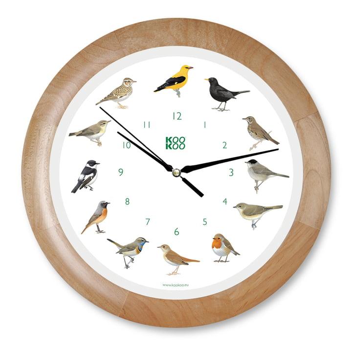 KooKoo - Horloge murale Singvogel, bois