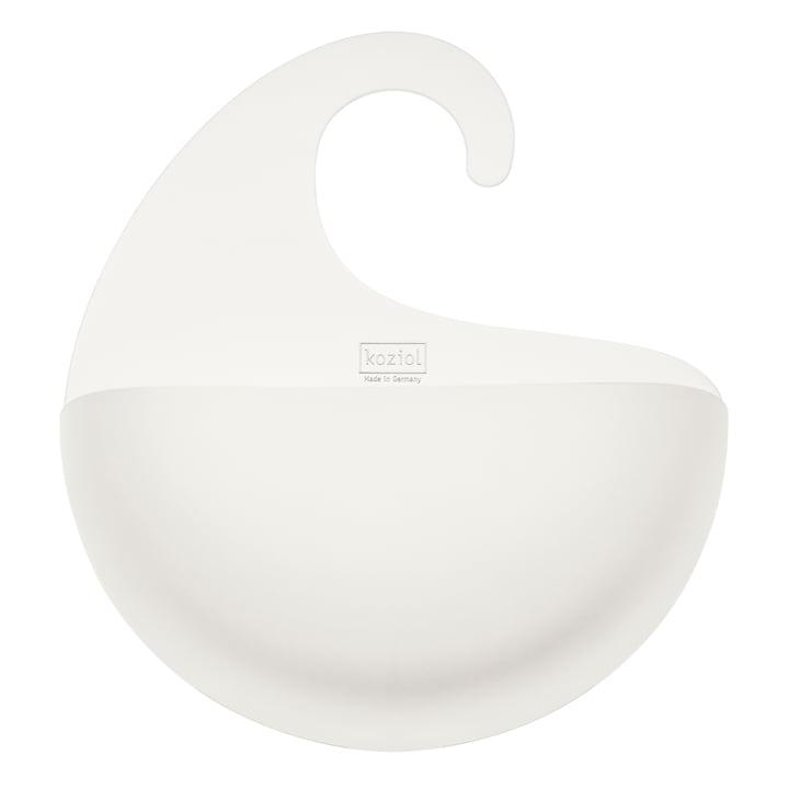 Silo de bain de surf avec poignée XL by Koziol en blanc