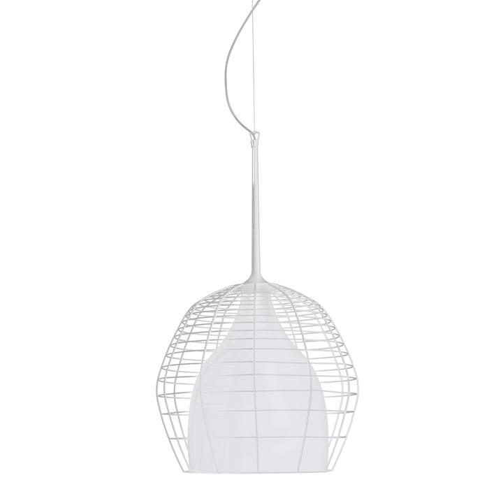 Diesel Living - Suspension lumineuse Cage, grand format, blanc/blanc
