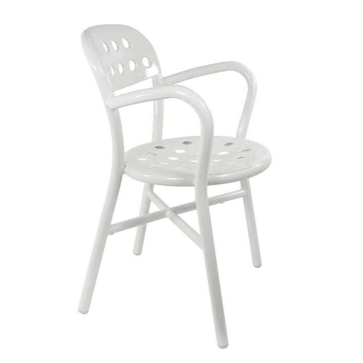 Magis - Chaise à accoudoirs Pipe, blanc