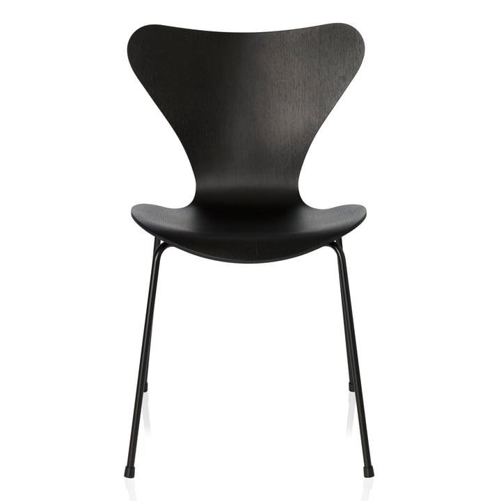 Fritz Hansen - Chaise Série 7, Monochrome noir, 46,5cm