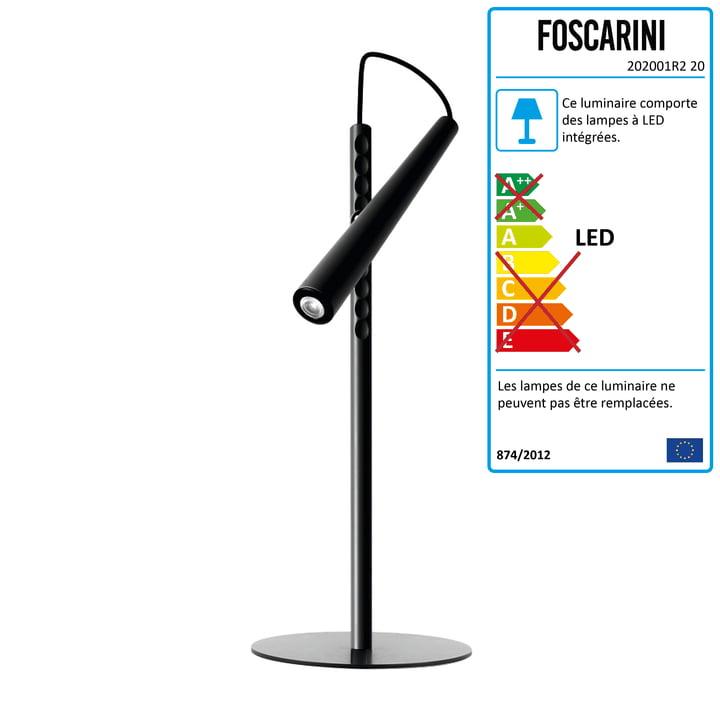 Foscarini - Lampe de table LED Magneto, noire