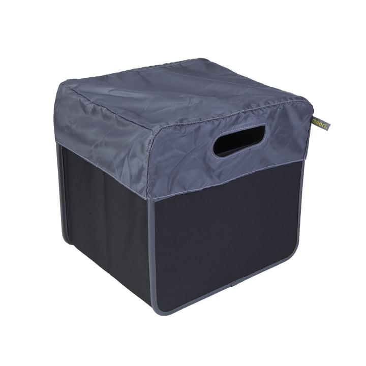 meori - Capote 15litres, gris/Boîte pliante classique 15litres, noir uni