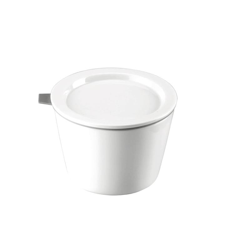 Thomas - Food Container porcelaine, 500 ml, anneau en silicone gris