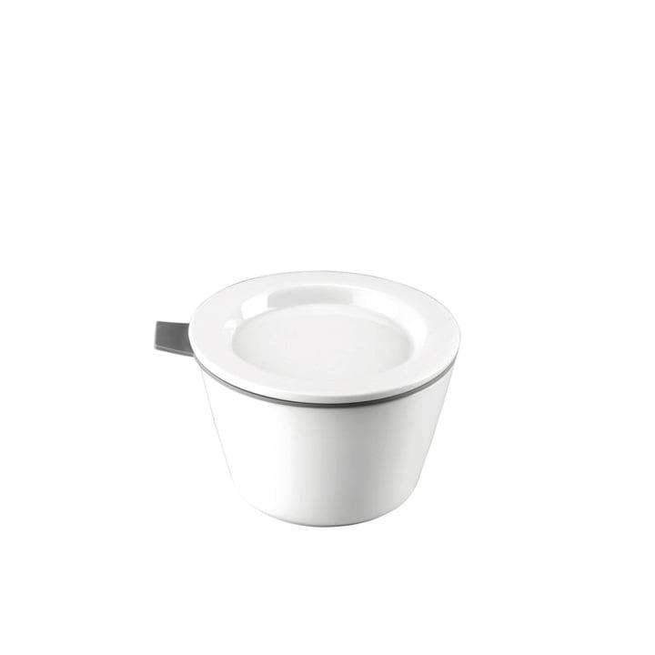 Thomas - Food Container porcelaine, 140 ml, anneau en silicone gris