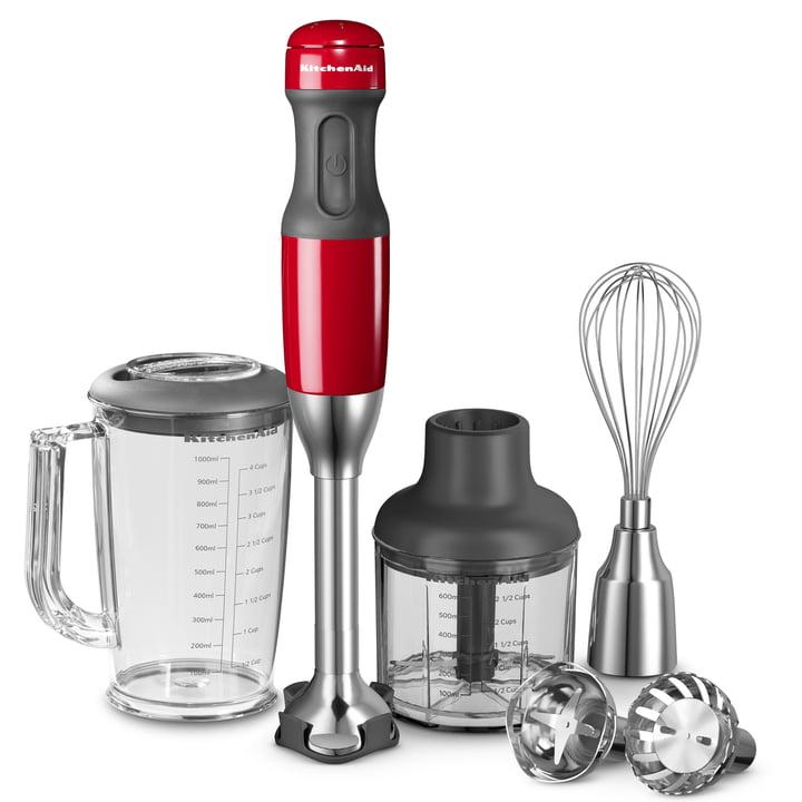 KitchenAid - Mixeur plongeant à 5vitesses, rouge Empire