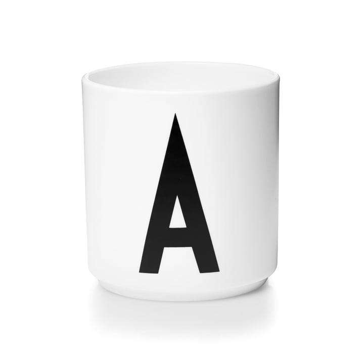 Design Letters - Tasse en porcelaine AJ - A