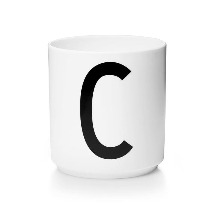 Design Letters - Tasse en porcelaine AJ - C