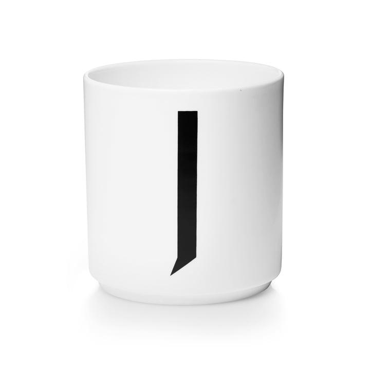 Design Letters - Tasse en porcelaine AJ - J