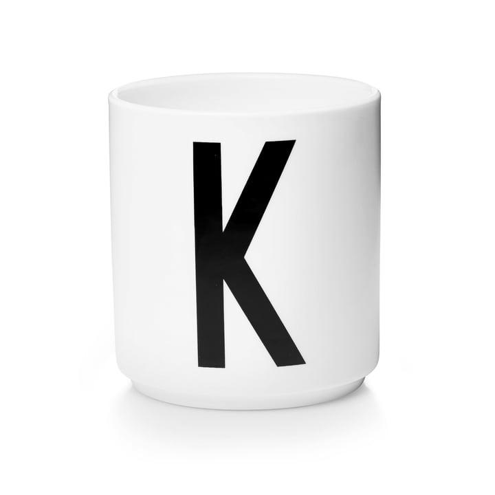 Design Letters - Tasse en porcelaine AJ - K