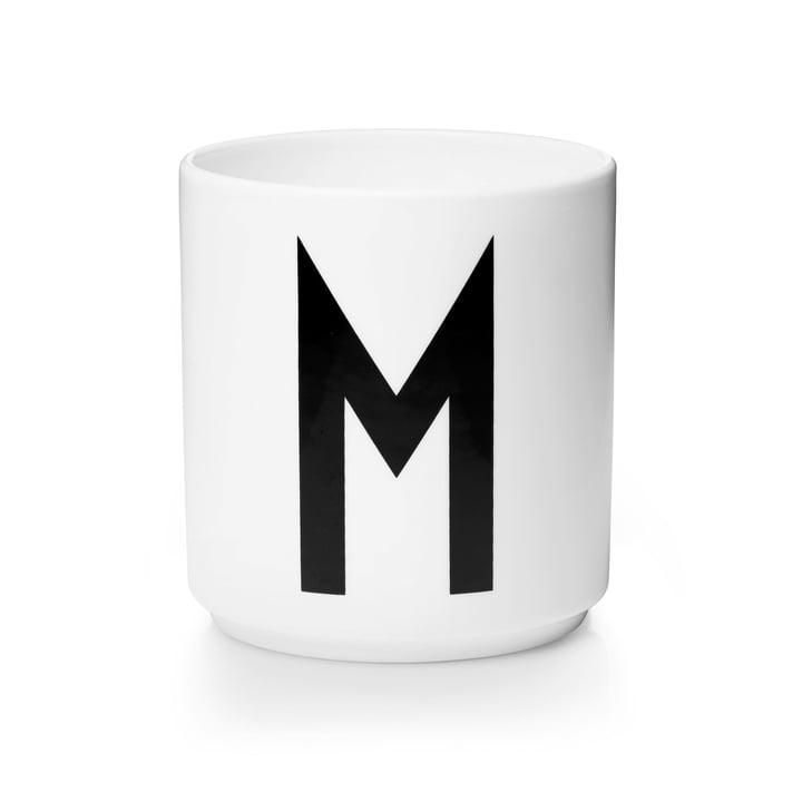 Design Letters - Tasse en porcelaine AJ - M