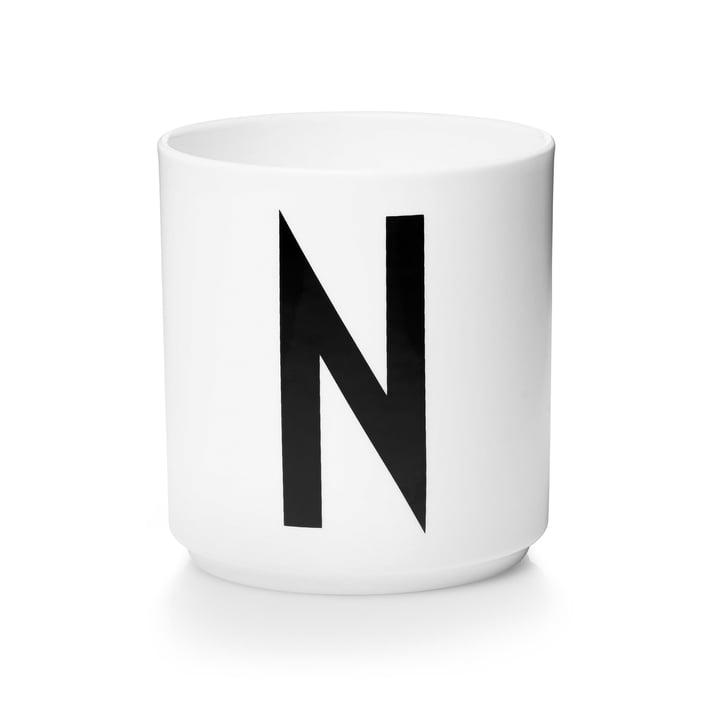 Design Letters - Tasse en porcelaine AJ - N
