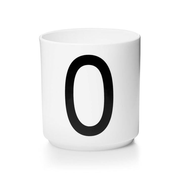Design Letters - Tasse en porcelaine AJ - O