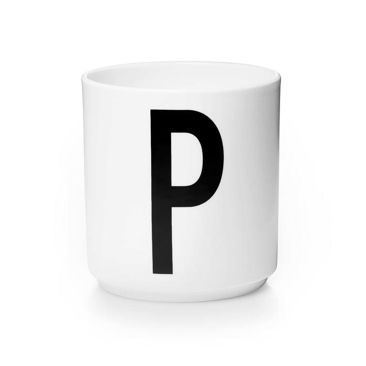 Design Letters - Tasse en porcelaine AJ - P