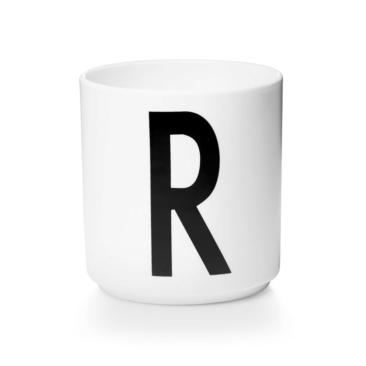 Design Letters - Tasse en porcelaine AJ - R