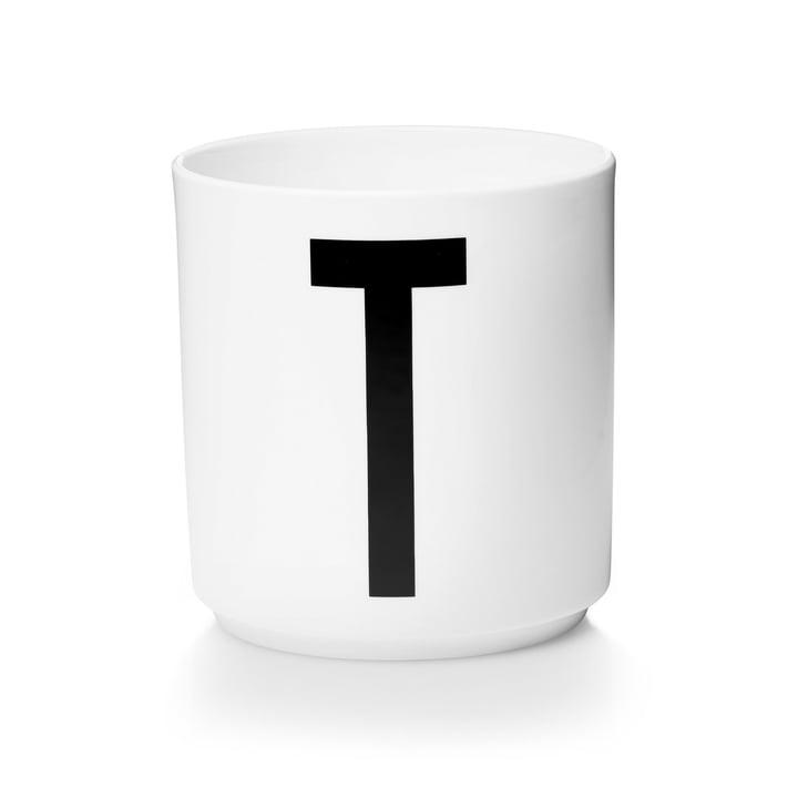 Design Letters - Tasse en porcelaine AJ - T