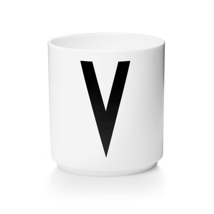 Design Letters - Tasse en porcelaine AJ - V