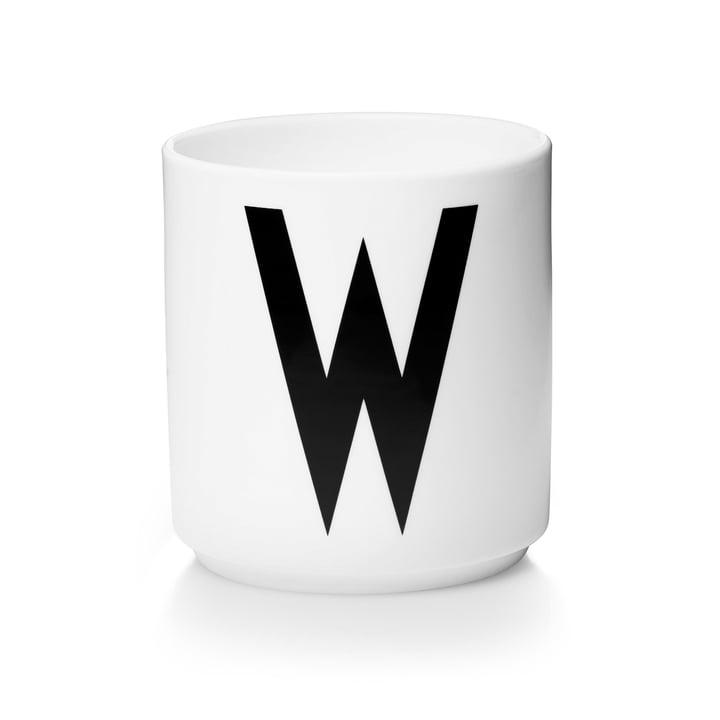 Design Letters - Tasse en porcelaine AJ - W