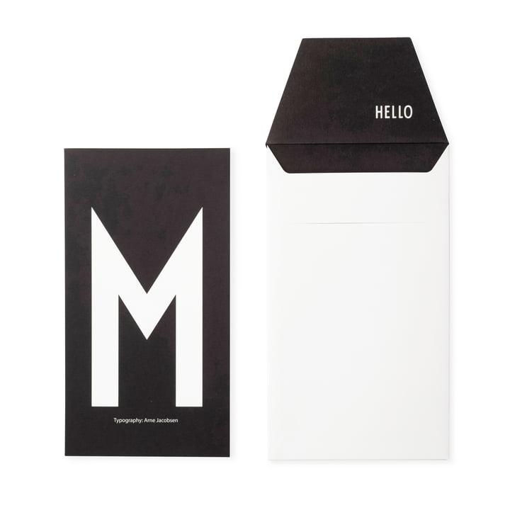 Design Letters - Carte postale AJ M