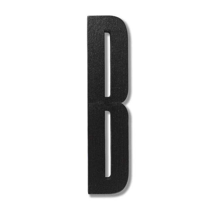 Wooden Letters Indoor B de Design Letters en noir