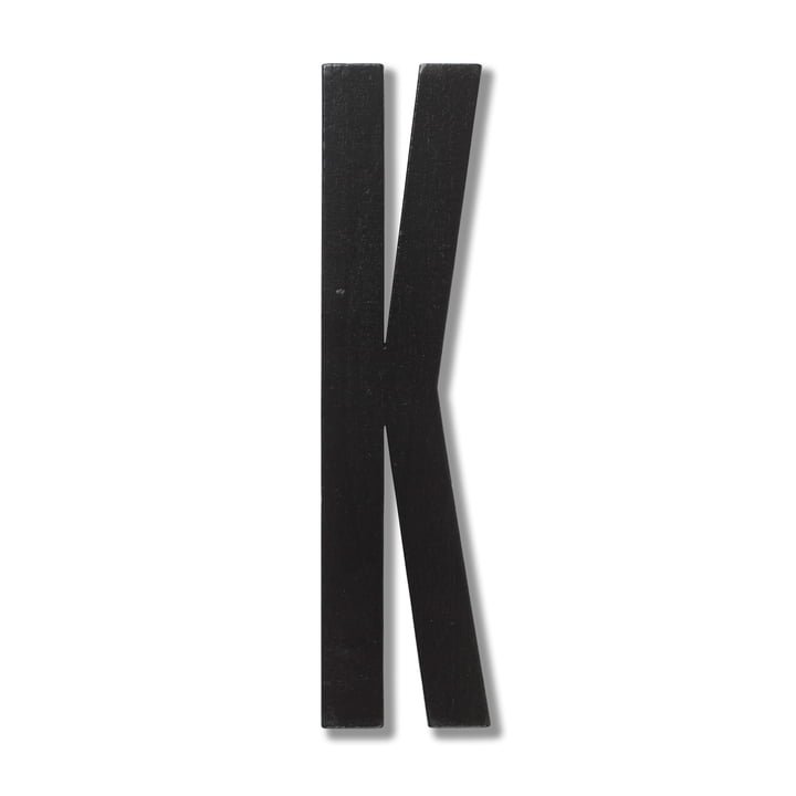 Wooden Letters Indoor K de Design Letters en noir