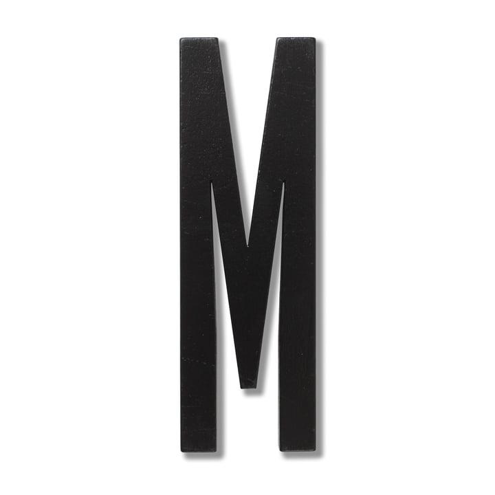 Wooden Letters Indoor M de Design Letters en noir